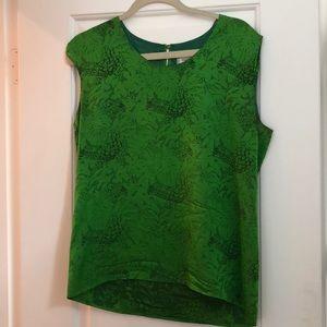 Vintage emerald YSL top